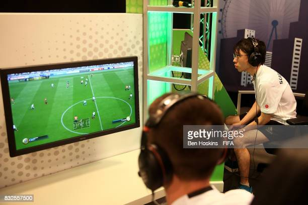 Subaru 'Subaridas' Sagano of Japan in action in his game against Marcel 'Marlut' Lutz of Germany during day one of the FIFA Interactive World Cup...