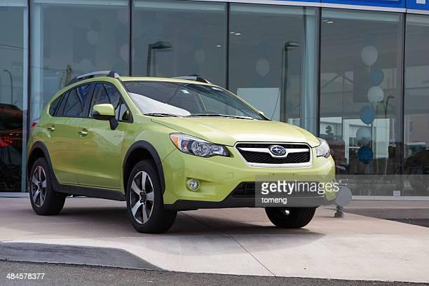 Subaru XV Crossover Hybrid at Car Dealership