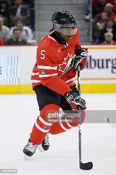 Subban of Team Canada skates during the game against Team Kazakhstan at the IIHF World Junior Championships at Scotiabank Place on December 28 2008...