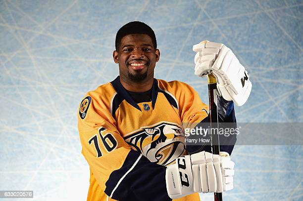 K Subban of the Nashville Predators poses for a portrait prior to the 2017 Honda NHL AllStar Game at Staples Center on January 29 2017 in Los Angeles...