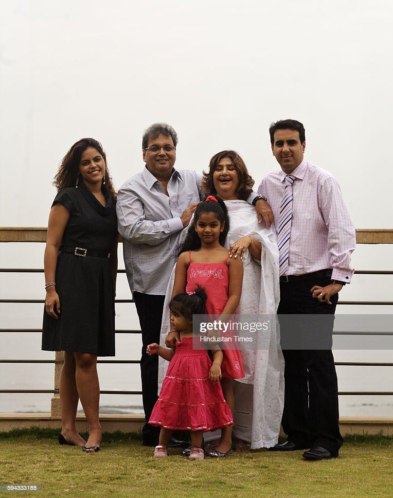 Subhash Ghai Family Subhash Ghai Meghna Muskaan granddaughter Annya and son in law Rahul Puri