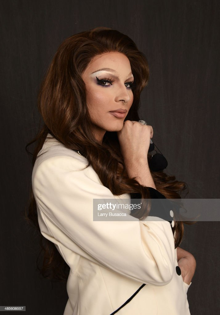 Subject April Carrion from 'Mala Mala' poses for the Tribeca Film Festival Getty Images Studio on April 21, 2014 in New York City.