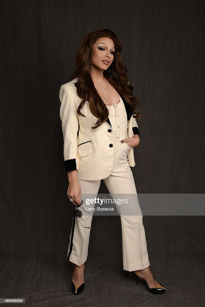 Subject April Carrion from 'Mala Mala' poses for the Tribeca Film Festival Getty Images Studio on April 21 2014 in New York City