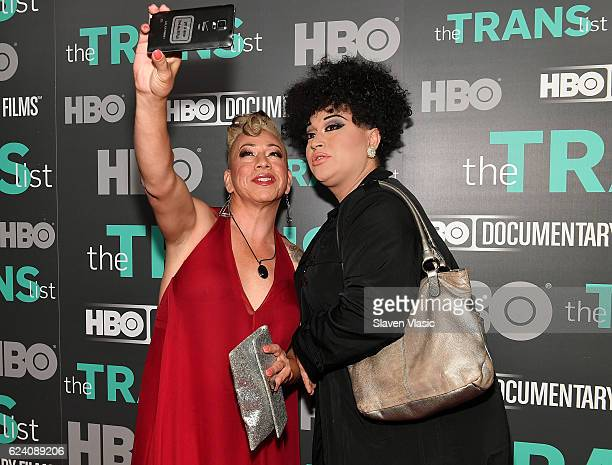 Subject of the documentary Bamby Salcedo and guest attend HBO Documentary Film 'THE TRANS LIST' NY Premiere at Paley Center For Media on November 17...