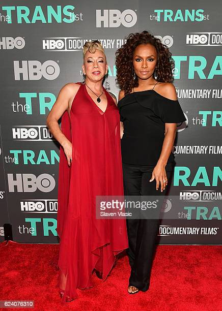 Subject of the documentary Bamby Salcedo and interviewer/producer Janet Mock attend HBO Documentary Film 'THE TRANS LIST' NY Premiere at Paley Center...