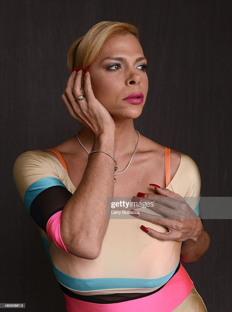 Subject Sandy Alvarado from 'Mala Mala' poses for the Tribeca Film Festival Getty Images Studio on April 21 2014 in New York City