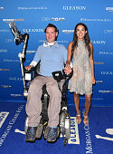 Subjects Steve Gleason and wife Michel Varisco Gleason attend the special screening for Amazon Studios and Open Road Films' 'Gleason' on July 20 2016...