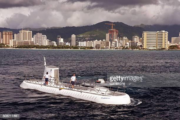 Submarine crew on the submarine