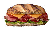 Submarine sandwich on Italian bread