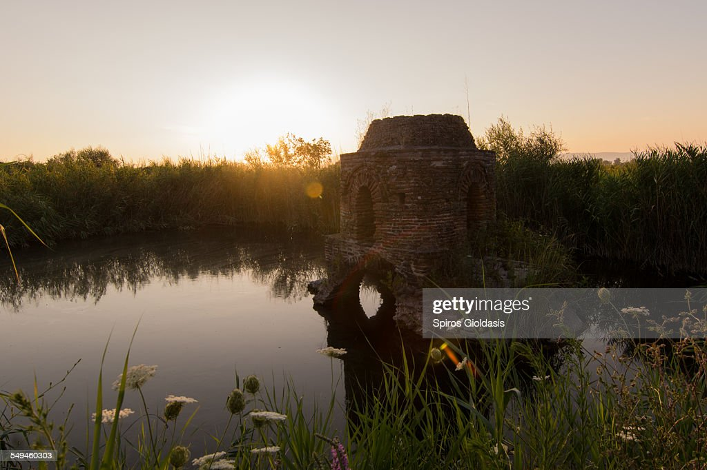 Submerged chapel : Stock Photo