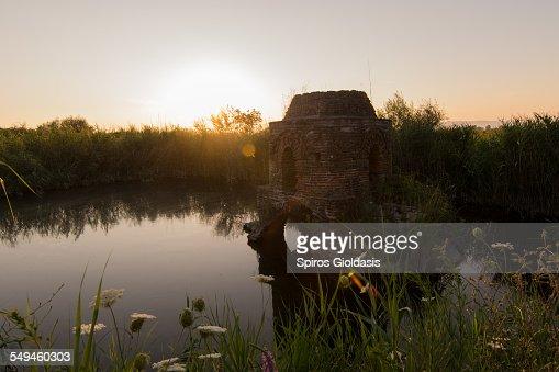 Submerged chapel : Stock Photo