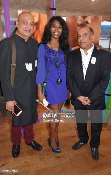 Subodh Rathod Sinitta and Niranjan Kamatkar founder of GFEST attend Absolut's #KissWithPride event at the Houses of Parliament in celebration of the...