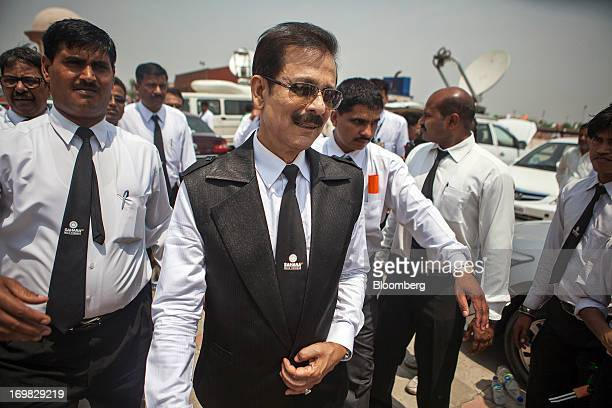 Subrata Roy chairman of Sahara Group center leaves a company event in Lucknow India on Monday May 6 2013 Roy's closely held Sahara India Pariwar...