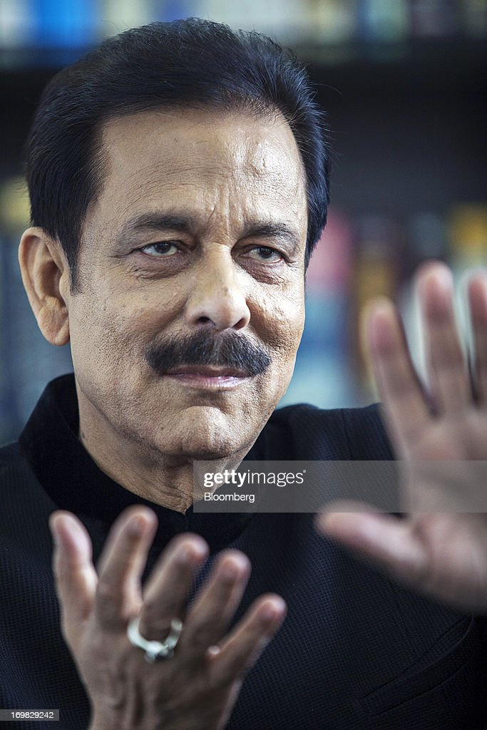Subrata Roy, chairman of Sahara Group, gestures as <b>he speaks</b> during an ... - subrata-roy-chairman-of-sahara-group-gestures-as-he-speaks-during-an-picture-id169829242