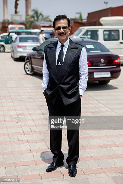 Subrata Roy chairman of Sahara Group poses for a photograph in Lucknow India on Monday May 6 2013 Roy's closely held Sahara India Pariwar group of...