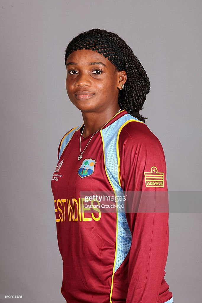 Subrina Munroe of West Indies poses at a portrait session ahead of the ICC Womens World Cup 2013 at the Taj Mahal Palace Hotel on January 27, 2013 in Mumbai, India.