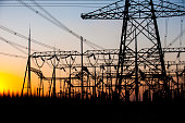 Substation in the evening