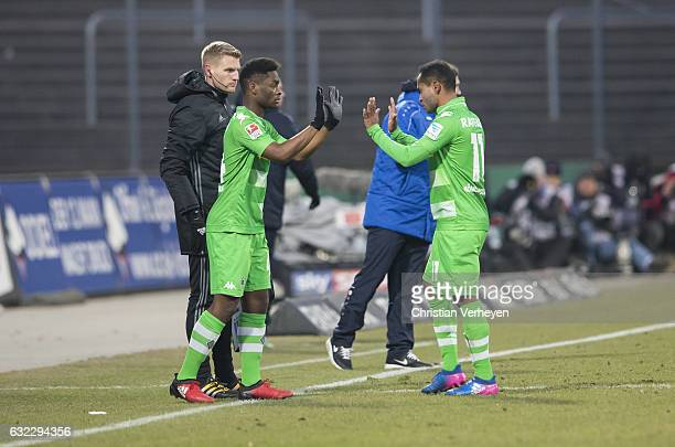 Substitution BaMuaka Simakala for Raffael of Borussia Moenchengladbach during the Bundesliga Match between SV Darmstadt 98 and Borussia...