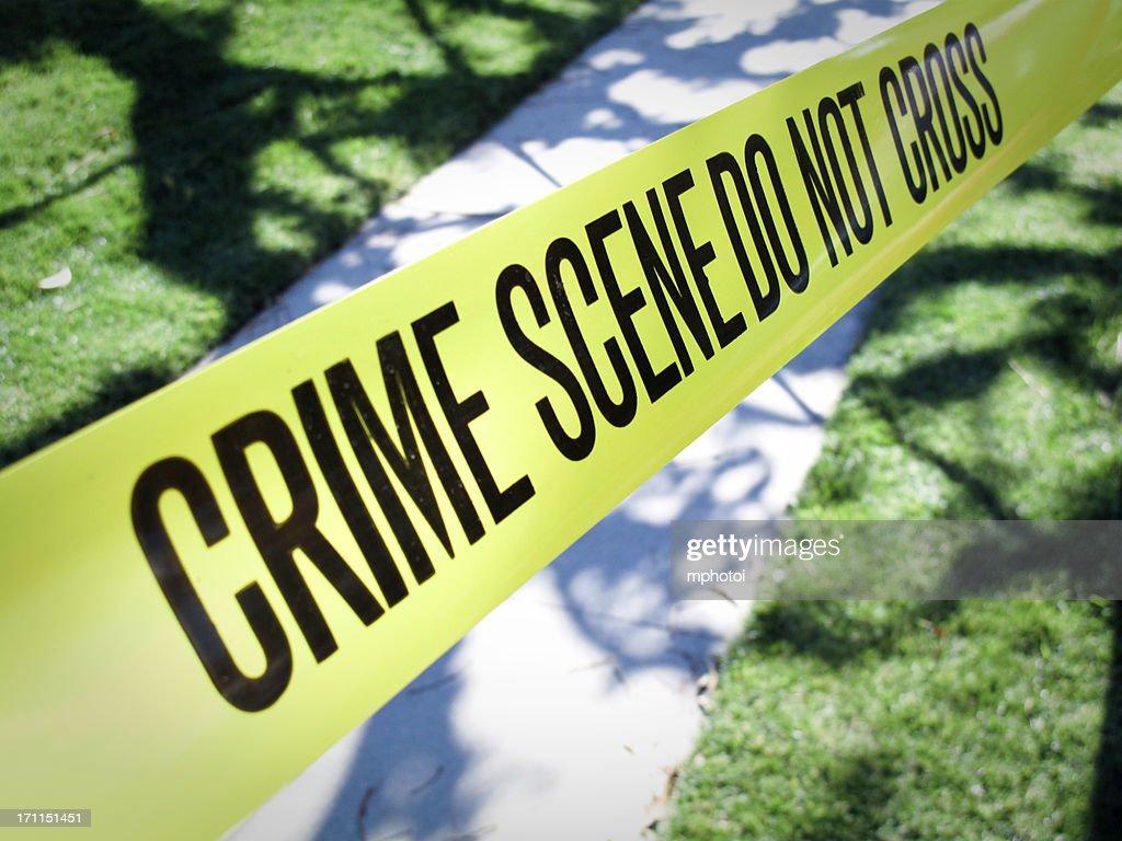 Suburban Crime Scene : Stock Photo