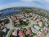Aerial view of residential neighborhood in South Florida