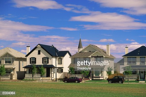 Suburban homes : Stock Photo