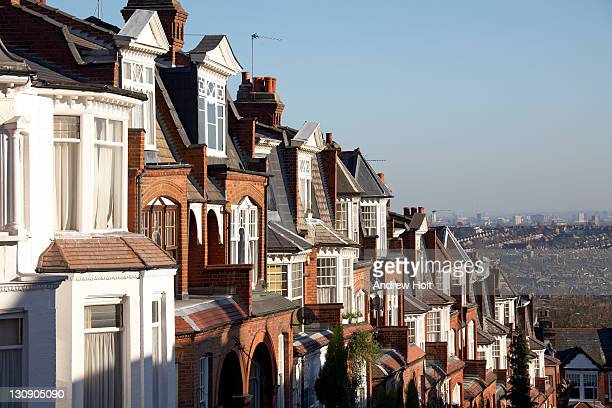 Suburban houses and rooftops of Muswell Hill