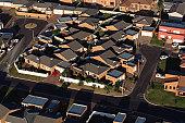 A suburban housing estate