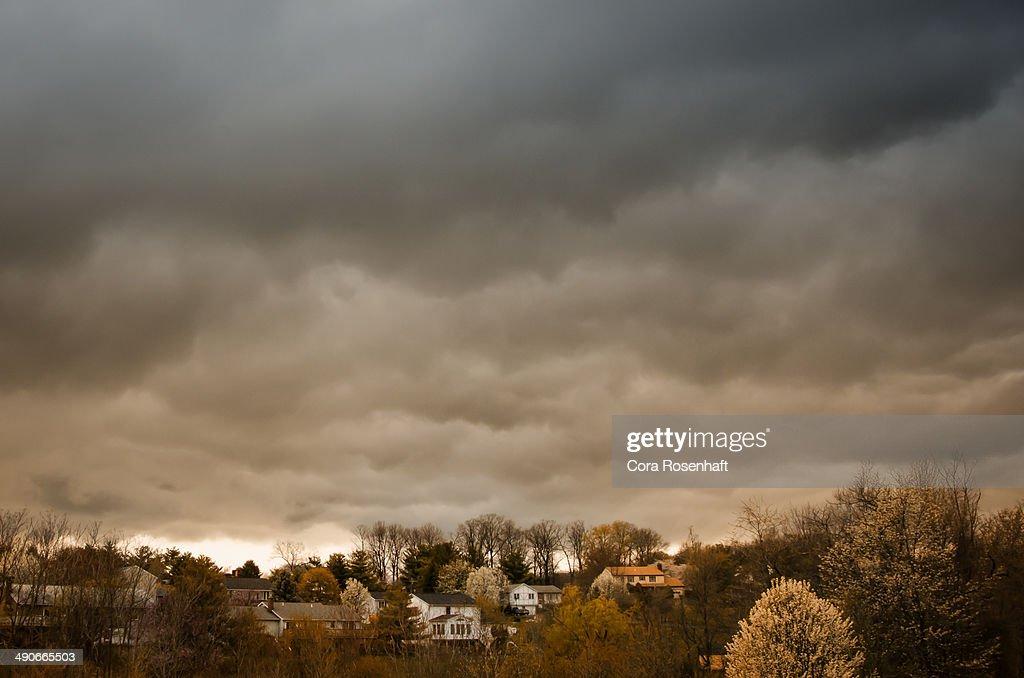 Suburban storm clouds