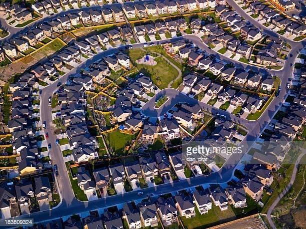 Suburbs Aerial View