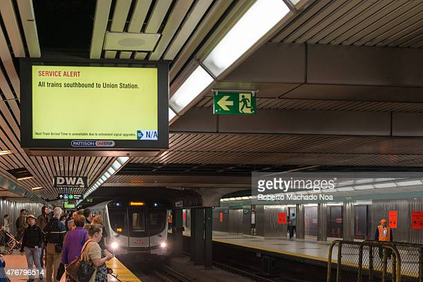 TTC subway closure during repairs work on weekends the trains are only travelling south to the downtown Signal repair is being done The TTC subway is...