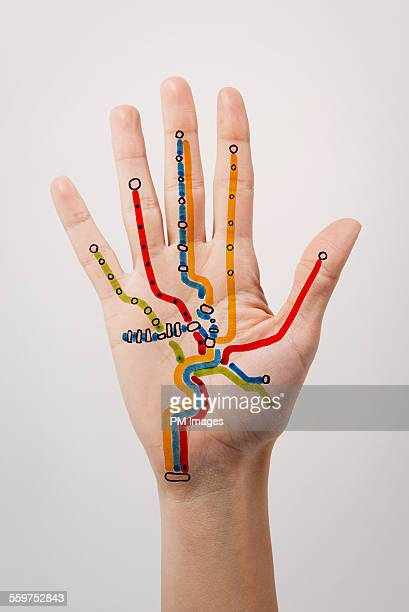 Subway map drawn on hand