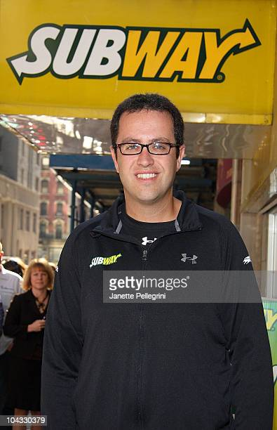 Subway sandwich enthusiast Jared Fogle trains for the ING New York City Marathon at Subway Restaurant on September 21 2010 in New York City