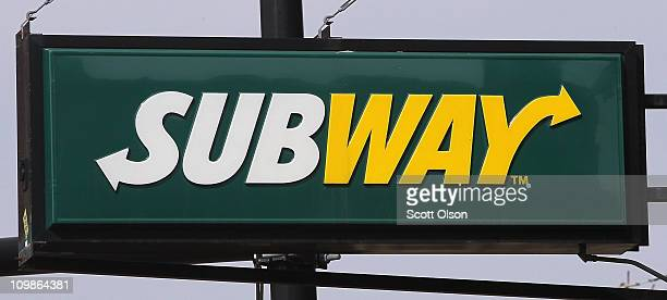 Subway sign hangs above one of the company's restaurants on March 8 2011 in Chicago Illinois With 34225 restaurants in 95 countries Subway has...