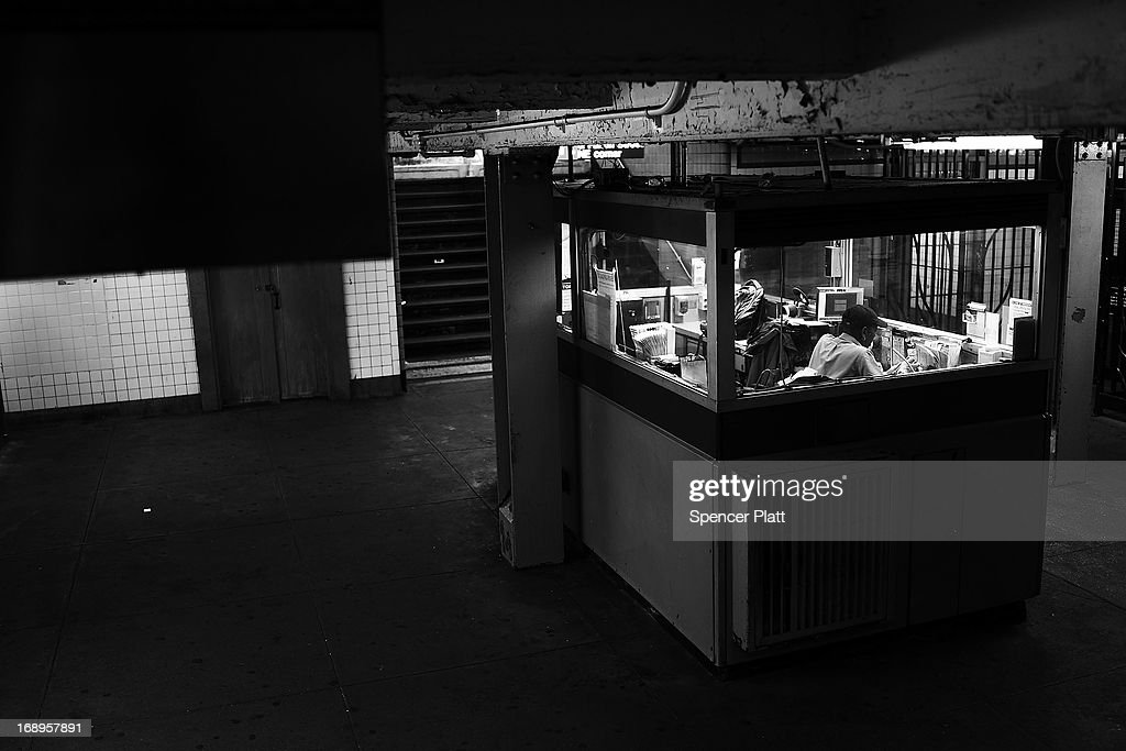 A subway station attendant sits in a booth of the Kingston-Throop Ave. station, where MTA worker Harry Kaufman was killed November 26, 1995, after being attacked with gasoline and fire in a botched robbery at the token booth in Bedford-Stuyvesant on May 16, 2013 in Brooklyn borough of New York City. While two teenagers were charged in the case, the defense had accused New York Police Detective Louis Scarcella of beating one of the suspects. Following the recent clearing of David Ranta of murder after serving a 23-year prison sentence, the Brooklyn, N.Y. District Attorney is reviewing 50 murder cases investigated by celebrated Detective Louis Scarcella. The review of cases will give special scrutiny to those cases which appear weakest. Scarcella, 61 and now retired, denies ever having used unethical tactics to secure a conviction.