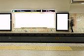 Subway Station, Blank Billboard