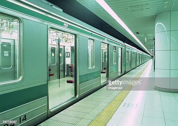 Subway stopped at station
