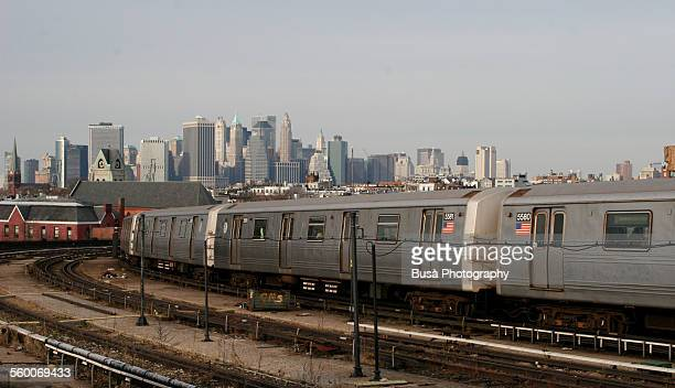 Subway train heading towards Manhattan
