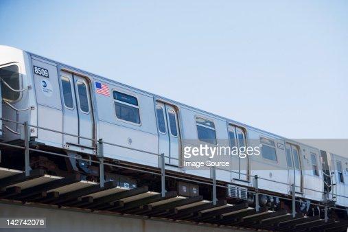 Subway train, New York City, USA
