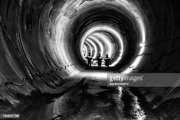 Subway, underground tunnel construction