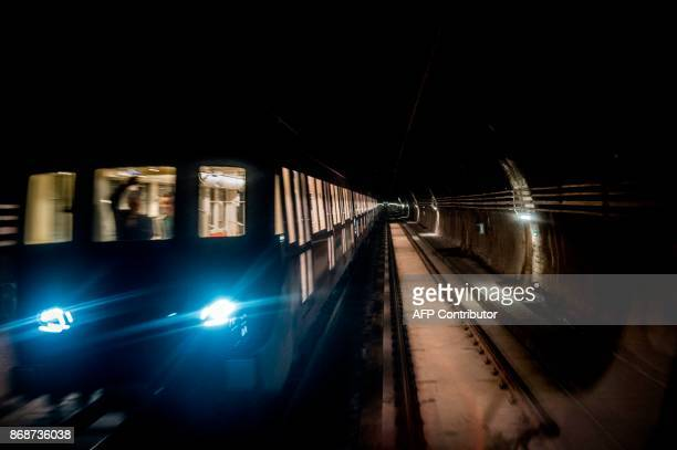 Subway workers check the last details of line 6 of the Santiago subway that will be inaugurated next November 2 in Santiago October 31 2017 The new...