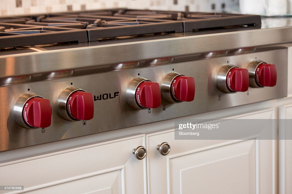 A SubZero Group Inc Wolf cooking range sits in a Toll Brothers Inc house in the Belvedere housing development in Bellevue Washington US on Thursday...