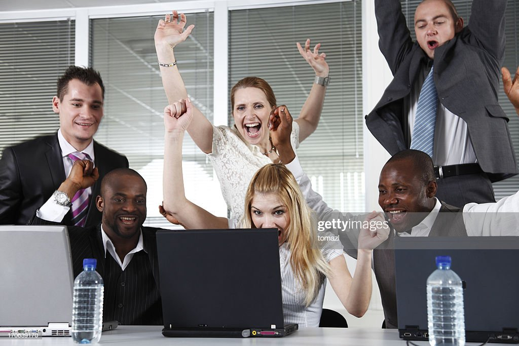 Success business team.