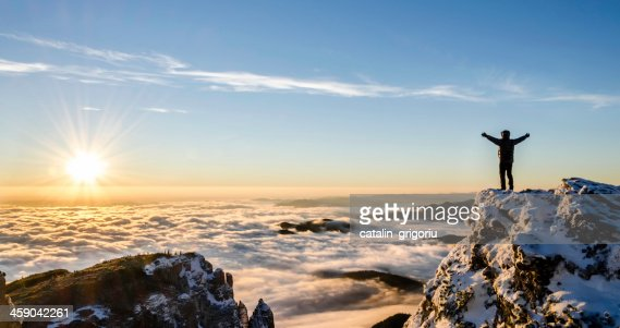 success in a majestic sunrise : Stock Photo