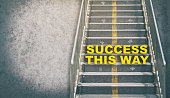 Success This Way Step up the success stair business concept with copy space