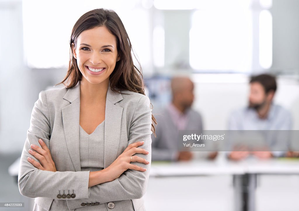 Success was always going to be her's! : Stock Photo