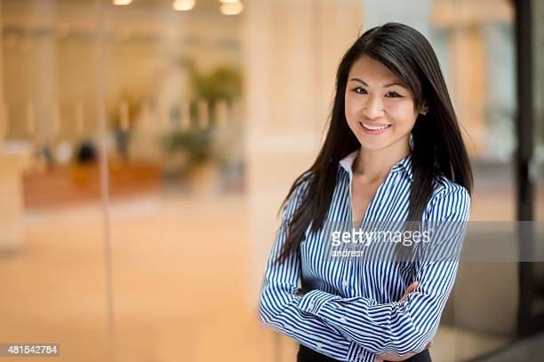 Successful Asian lawyer smiling