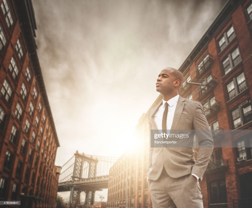 successful business man portrait in Dumbo - brooklyn : Stock Photo
