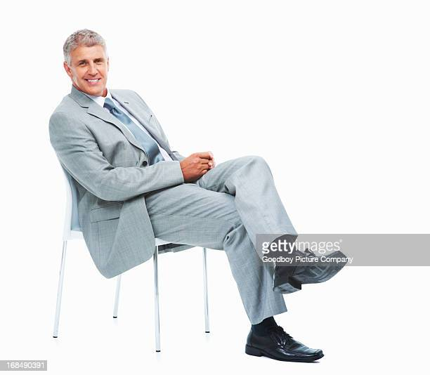 Successful business man relaxing