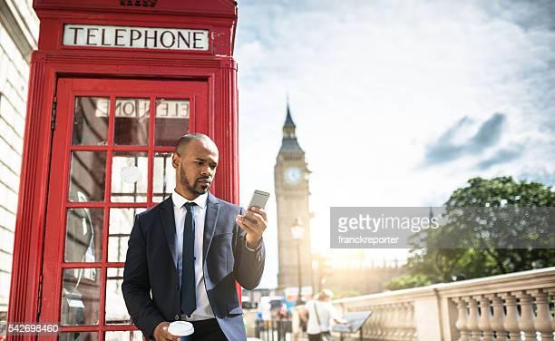 Erfolgreiches business Mann SMS