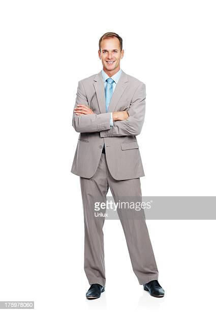 Successful business man with hands folded